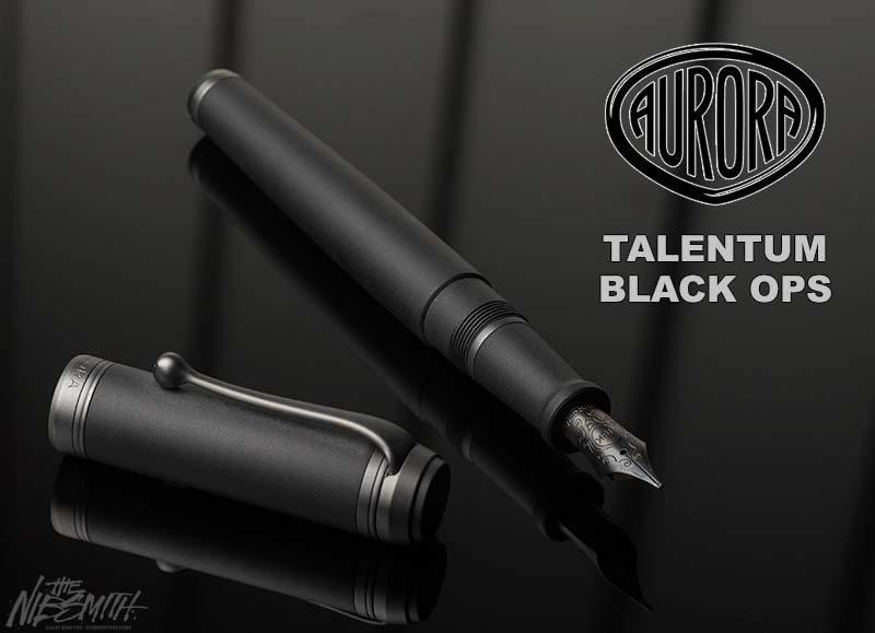 Aurora Talentum Black Ops Matte Black Fountain Pen