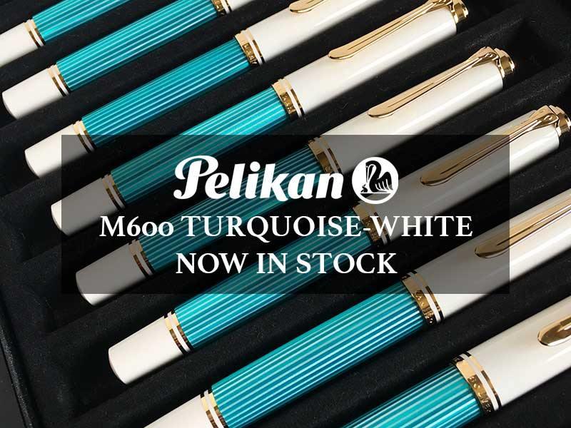 Pelikan M600 Turquoise-White fountain pen