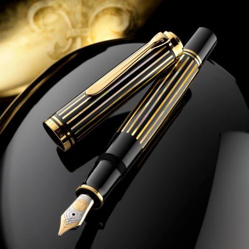 pelikan m800 royal gold raden fountain pen
