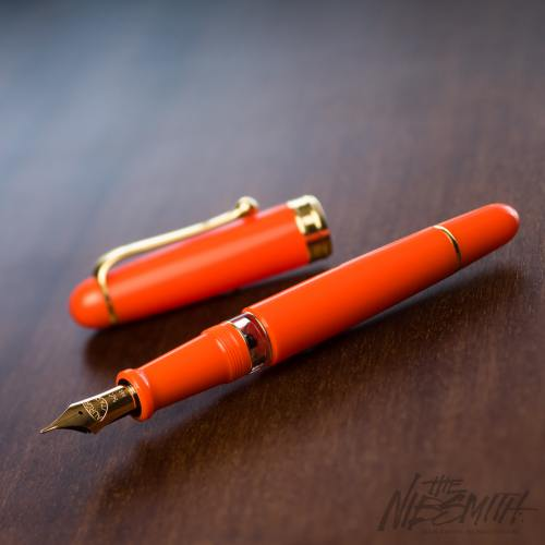 aurora 88 flex orange fountain pen