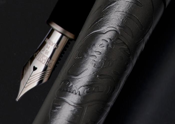 "Platinum Izumo ""Shikkoku Chikuringunkozu"" (Tiger in the Bamboo Forest) Fountain Pen"