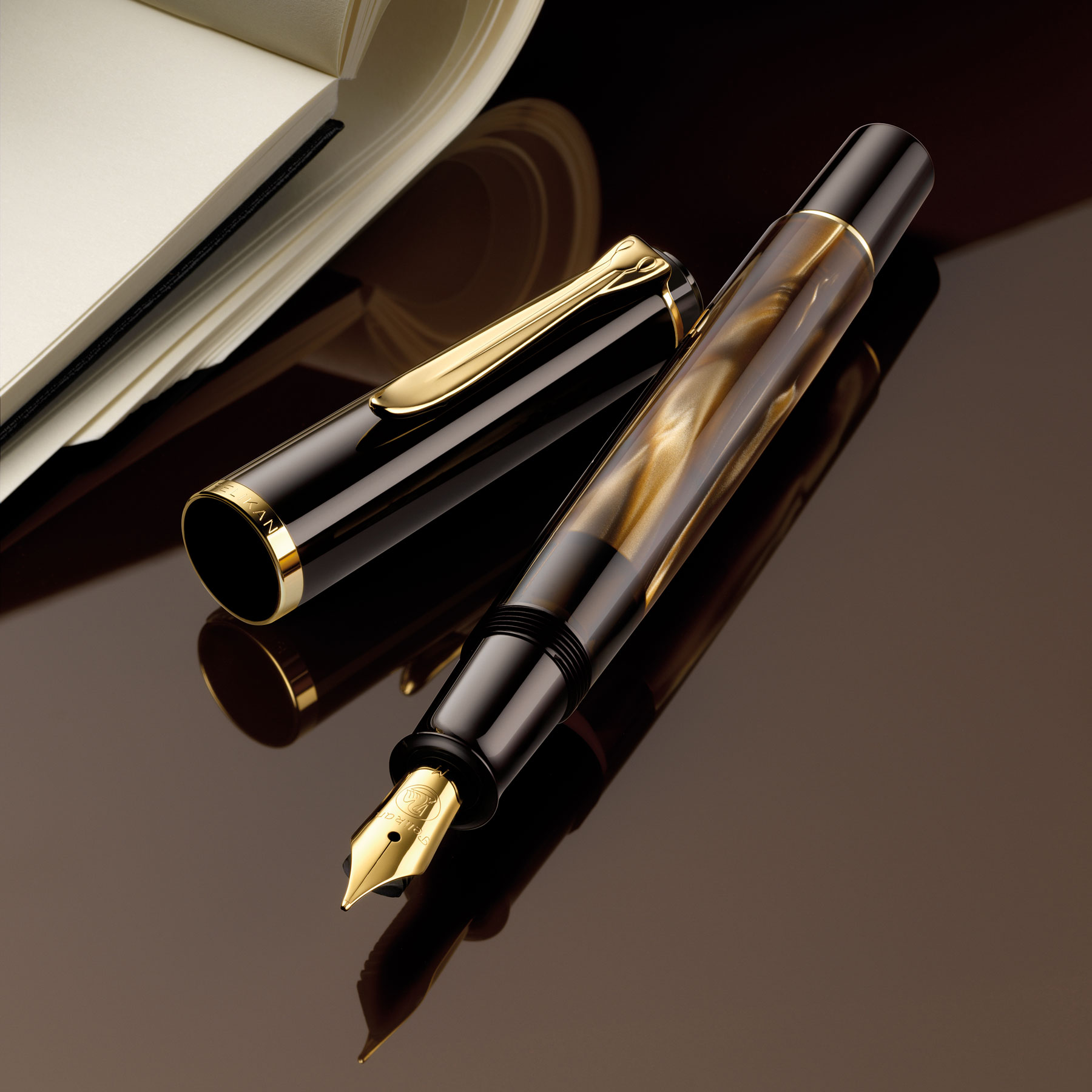Pelikan-M200-Brown-Marble