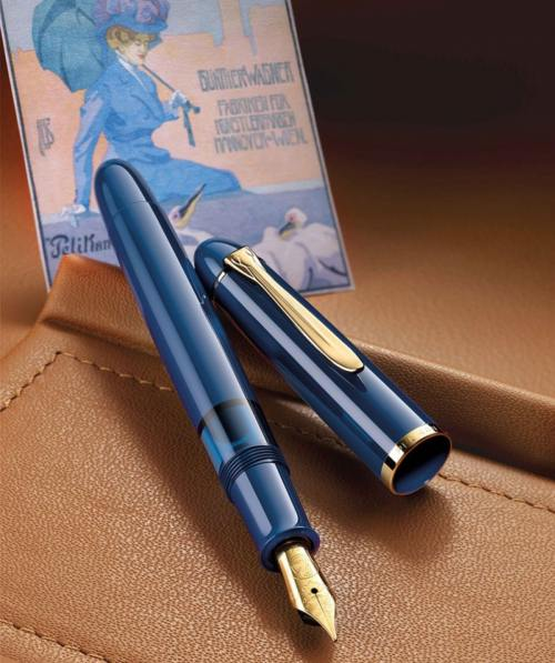 Pelikan-m120-iconic-blue-poster