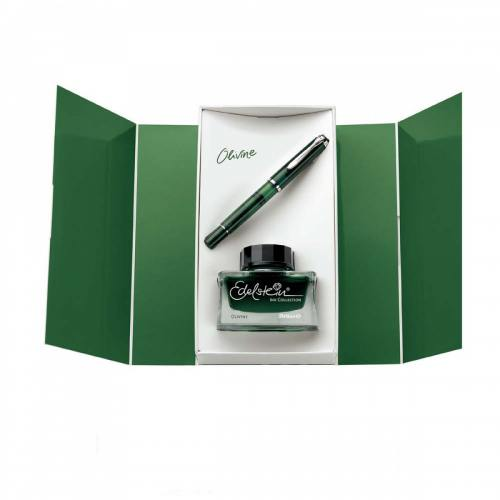 pelikan-classic-m205-transparant-olivine-special-edition-fountain-pen-vulpen-set