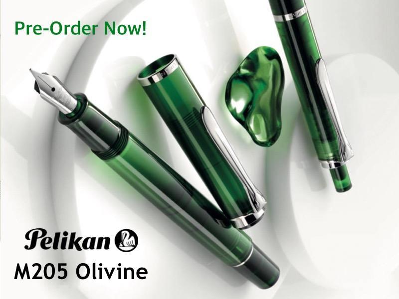 pelikan-m205-olivine-slider