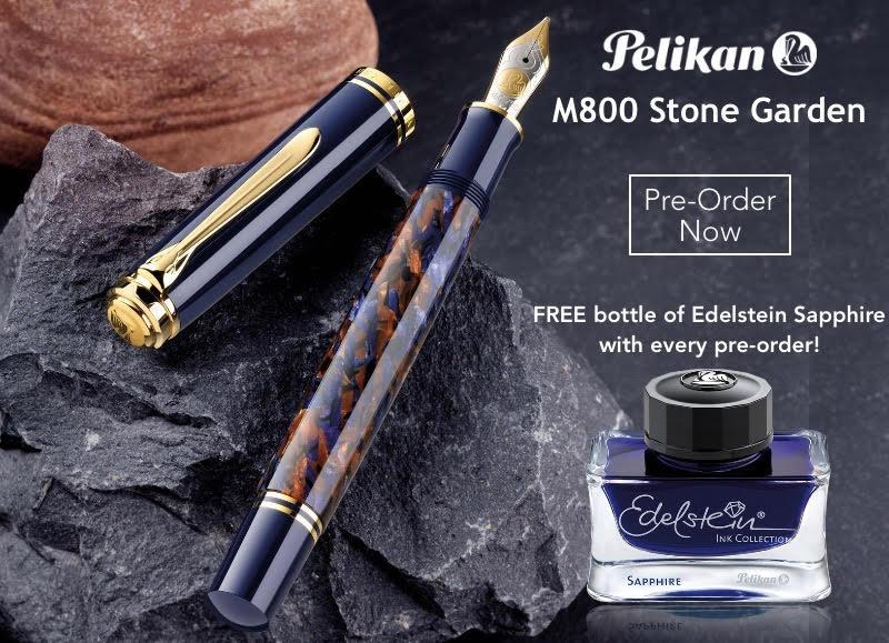 Pelikan M800 Stone Garden fountain pen nibsmith