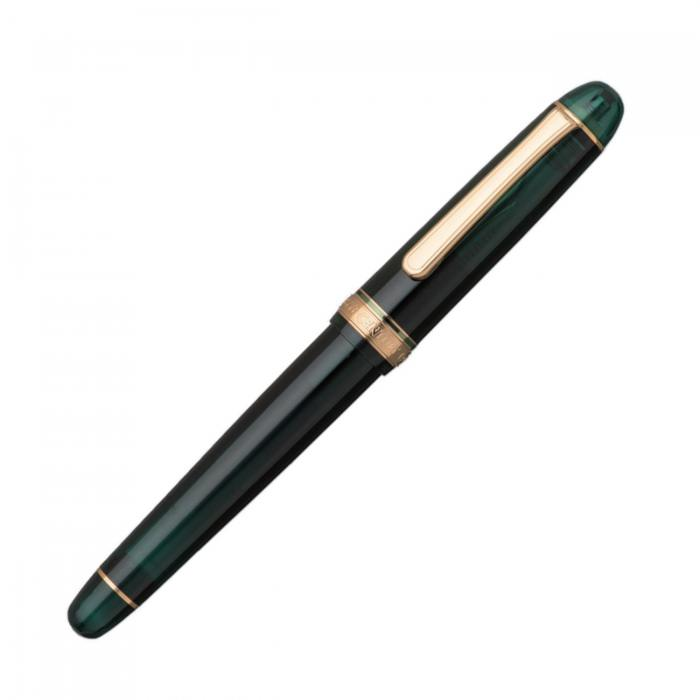 platinum-3776-Laurel-green-fountain-pen-capped-nibsmith