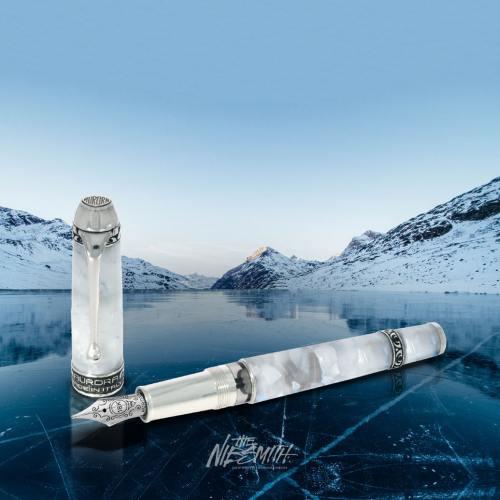 Aurora-arctic-glacial-ocean-fountain-pen-nibsmith