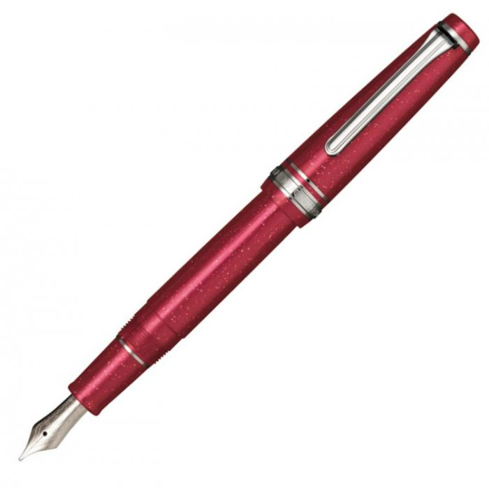 sailor-red-supernova-pro-gear-slim-fountain-pen-posted