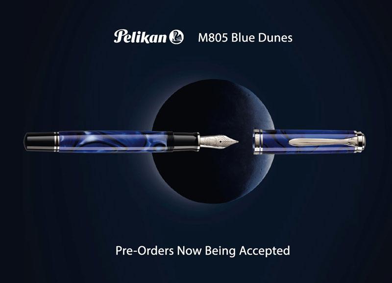 pelikan m805 blue dunes fountain pen