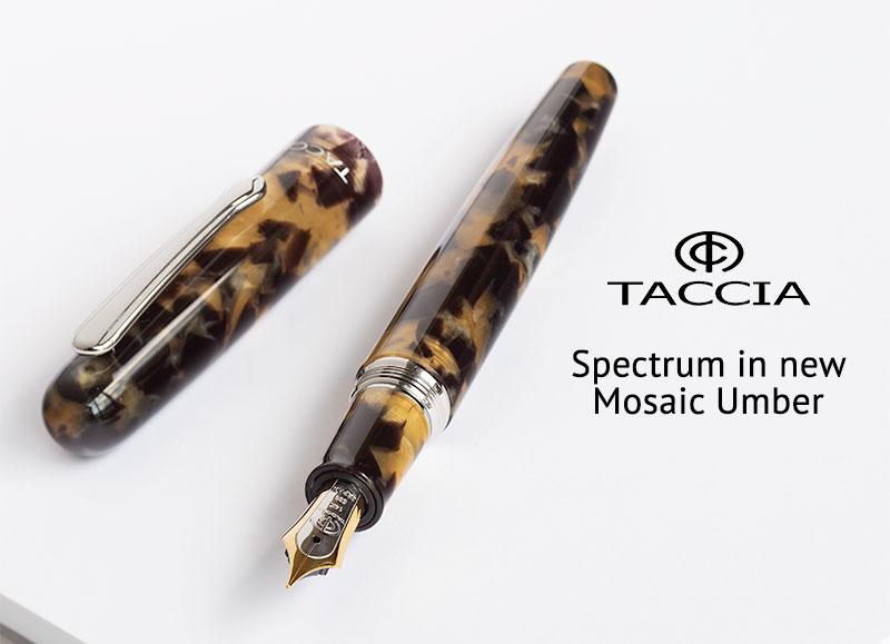 taccia spectrum mosaic umber fountain pen