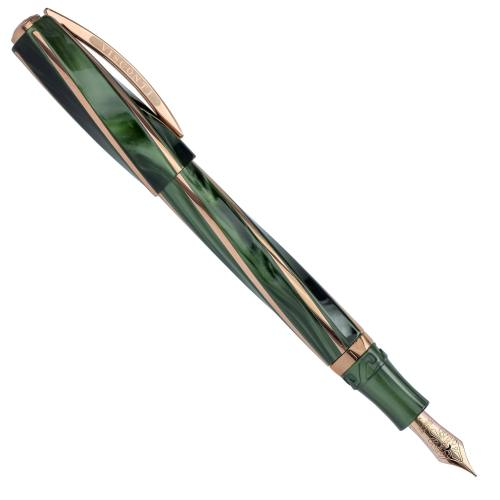 Visconti-Divina-Elegance-Green-Oversize-Fountain-Pen-posted-Nibsmith