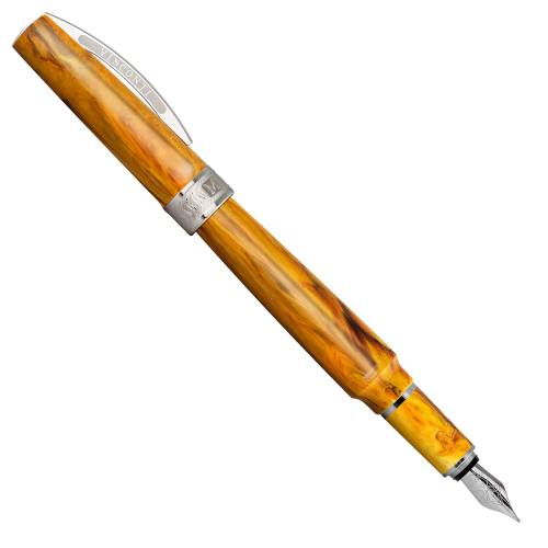 Visconti-MIRAGE-Amber-Fountain-Pen-posted-Nibsmith