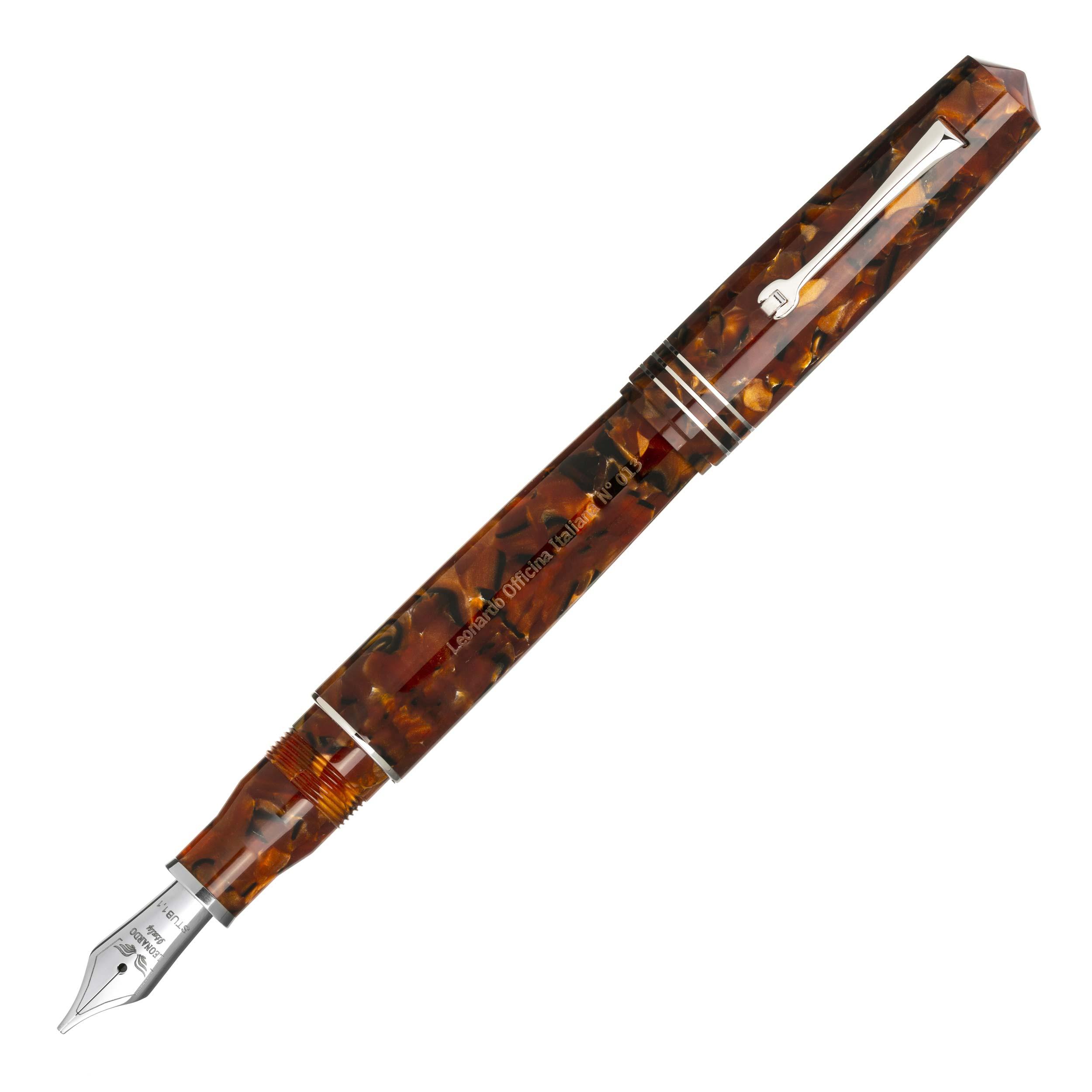 leonardo-momento-zero-grande-copper-fountain-pen-posted-nibsmith