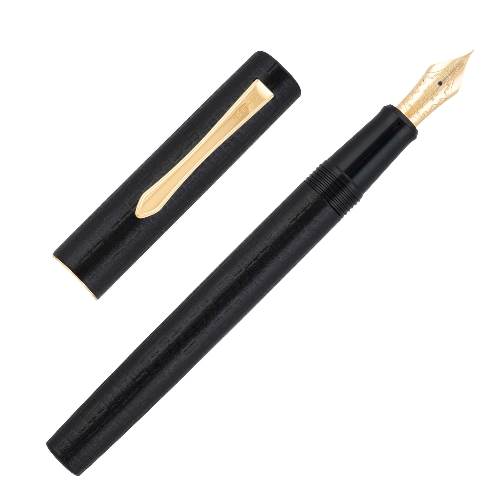 Pilot-Ishime-Black-fountain-pen-uncapped-nibsmith