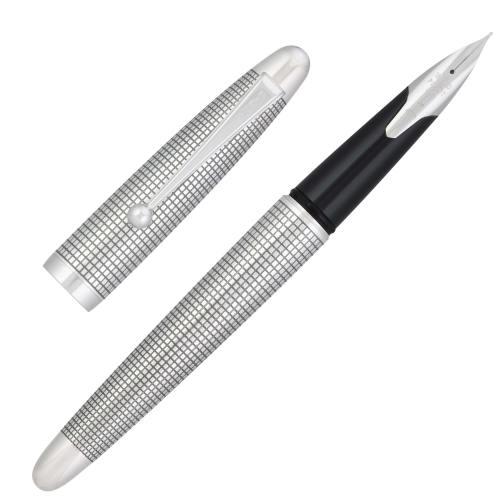 Pilot-Silvern-Koushi-fountain-pen-uncapped-nibsmith