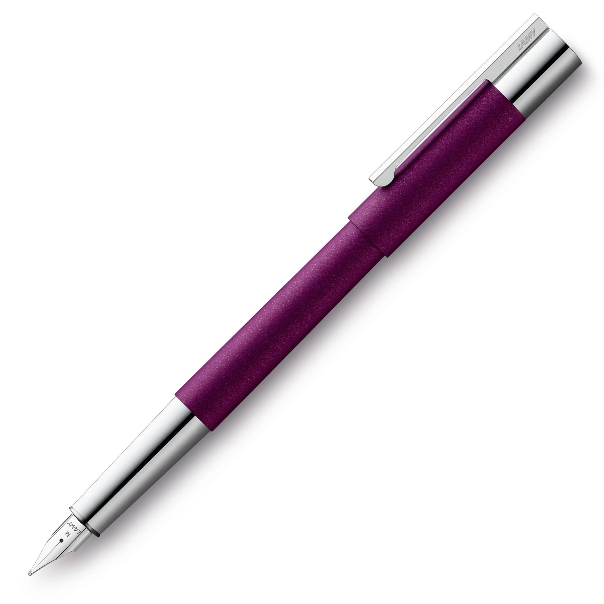 lamy-scala-dark-violet-fountain-pen-nibsmith