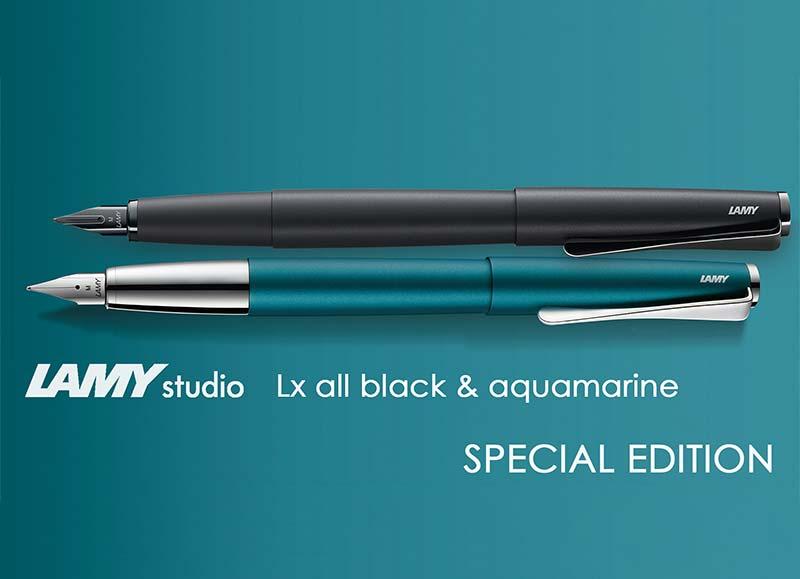 lamy studio lx black aquamarine special edition