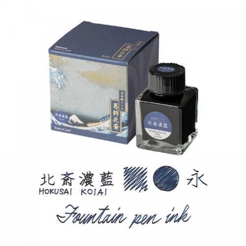 Taccia-Ukiyo-e-Hokusai-Koiai-Dark-Indigo-fountain-pen-ink
