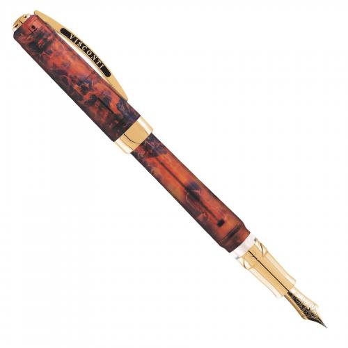 Visconti-Opera-Master-Turtle-Amber-fountain-pen-uncapped-5-nibsmith